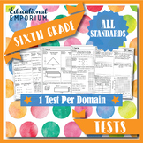 The ⭐ULTIMATE⭐ 6th Grade Math Tests Bundle