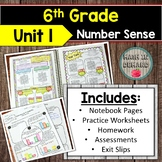 6th Grade Math Unit 1 Number Sense