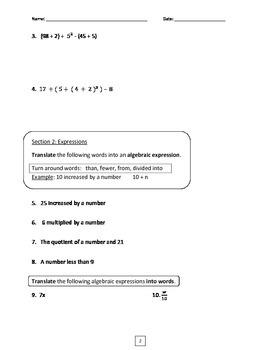 6th Grade Common Core Math Unit 3 Test Bundle (Accommodated & Regular)