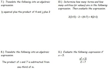 6th Grade Math: Unit 9 Common Core Lesson Plans with Links and Tests