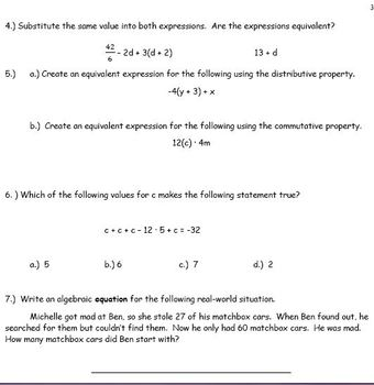 6th Grade Math:  Units 1 - 13 BUNDLED