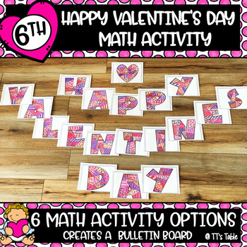 6th Grade Math Valentine's Day Activity