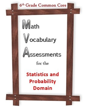 6th Grade Math:  Vocabulary Assessments for the SP Domain