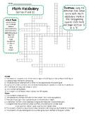 6th Grade Math Vocabulary Crossword Puzzle FREEBIE
