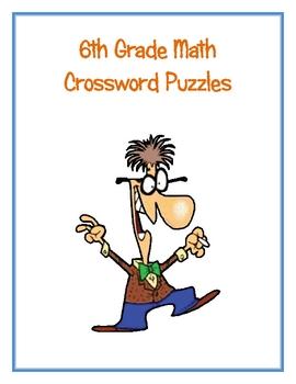 6th Grade Math Vocabulary Crossword Puzzles