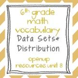 6th Grade Math Vocabulary: Data Sets and Distributions