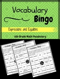 6th Grade Math Vocabulary BINGO (Expressions & Equations)