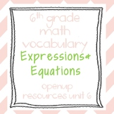 6th Grade Math Vocabulary: Expressions and Equations
