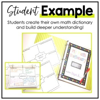 6th Grade Math Vocabulary CCSS Aligned - My Math Dictionary & Teacher Tools
