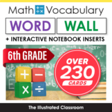 Math Word Wall for 6th Grade - Grades 5-8 Available