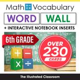 6th Grade Math Word Wall & Interactive Notebook Inserts