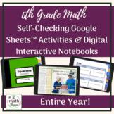 6th Grade Math WHOLE YEAR Vocabulary BUNDLE   INB & Self-C