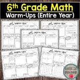 6th Grade Math Warm-Ups DISTANCE LEARNING