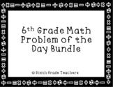 6th Grade Math Warm Ups Bundle