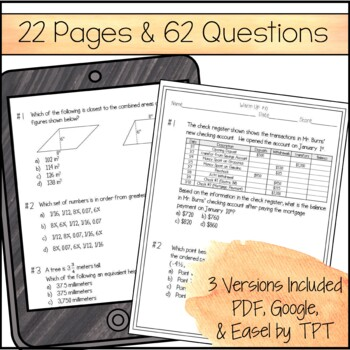 6th Grade Math Warm Ups - STAAR Review & Prep by Amazing ...