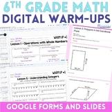 6th Grade Math Warm Ups in Google Slides