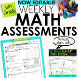6th Grade Math Weekly Assessments Math Quizzes