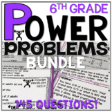 6th Grade Math Word Problems ALL STANDARDS Math Review Test Prep