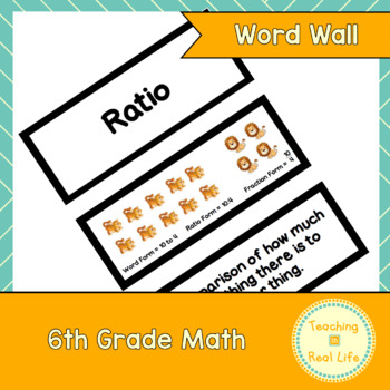 6th Grade Math Word Wall/Vocabulary