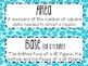6th Grade Math Word Wall Vocabulary Cards **Neon LeopardPrint**