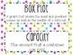 6th Grade Math Word Wall Vocabulary Cards **Neon Stars**