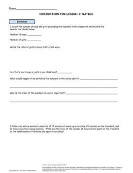 6th Grade Math Worksheets | Ratios