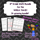 6th Grade Math Year Long GROWING Bundle