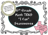 "Sixth Grade TEKS ""I Can"" Math and Science Bundle, Legal an"