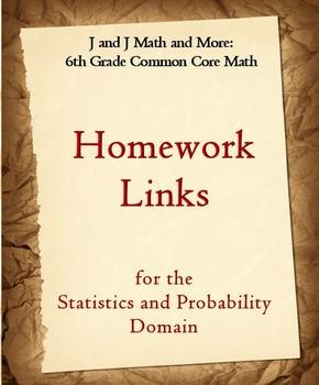 6th Grade Math: 6SP.1-6.SP.5d Internet Links to Statistics &Probability Homework