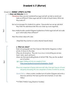 6th Grade SEEd Standard 6.2 - Matter and Energy Full Unit