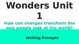 6th Grade McGraw Hill Wonders Unit 1 Writing Prompts