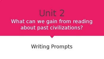 6th Grade McGraw Hill Wonders Unit 2 Writing Prompts