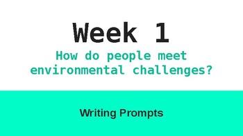 6th Grade McGraw Hill Wonders Unit 4 Writing Prompts