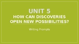 6th Grade McGraw Hill Wonders Unit 5 Writing Prompts