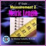 6th Grade Measurement 2 - Metric Length Powerpoint Lesson