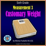 6th Grade Measurement 3 Customary Weight or Mass Powerpoin