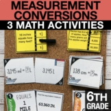 6th Grade Measurement Conversions Activities   6th Grade D