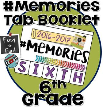 Memory Book 6th Grade - End of the Year Activities