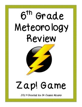 6th Grade Meteorology Review Zap! Game