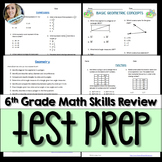 6th Grade Math Full Year Assessment Skills Review