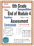 6th Grade Middle and End of Module 4 Assessments  - Editable