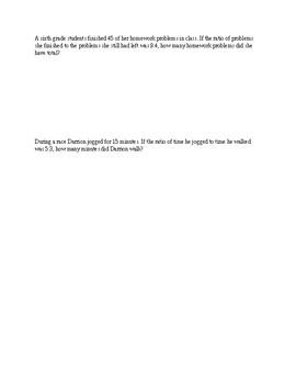 6th Grade Module 1 Lesson 1-6 Practice