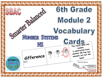 6th Grade Module 2 Vocabulary - Editable - SBAC