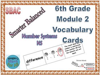 6th Grade Module 2 Vocabulary - Editable - SBAC