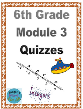 6th Grade Module 3 Quizzes for Topics A to C - Editable