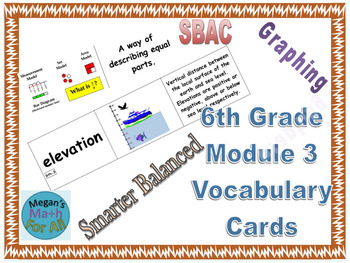6th Grade Module 3 Vocabulary - Engage NY/Eureka Math - SBAC - Editable