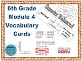 6th Grade Module 4 Vocabulary - Engage NY/Eureka Math - SBAC - Editable