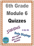 6th Grade Module 6 Quizzes for Topics A to D - Editable