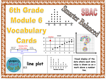 6th Grade Module 6 Vocabulary Cards - SBAC - Editable
