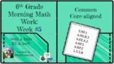 6th Grade Morning Math Work (and a little ELA, too!) Week #5